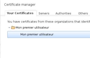 Copie écran certificat client