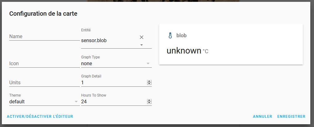 Capture écran sélection sensor.blob